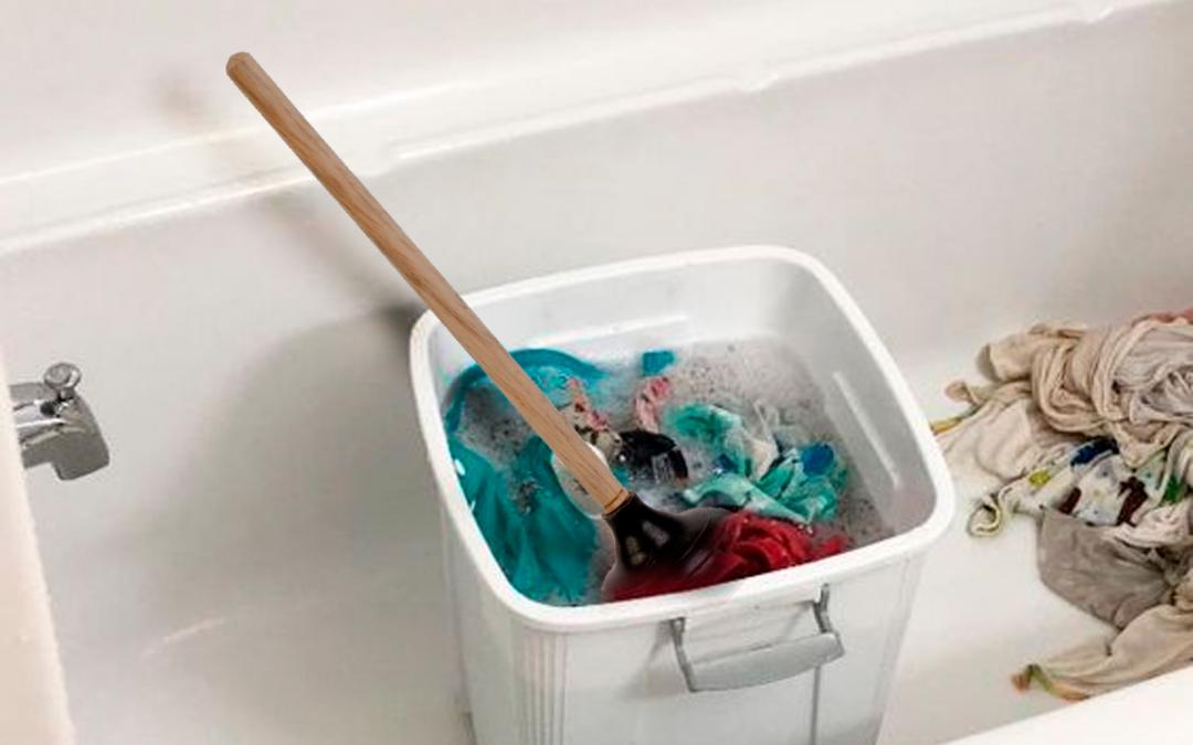 Lavar a mano, cuando quieres ahorrar en agua y luz o tienes pocos pañales!
